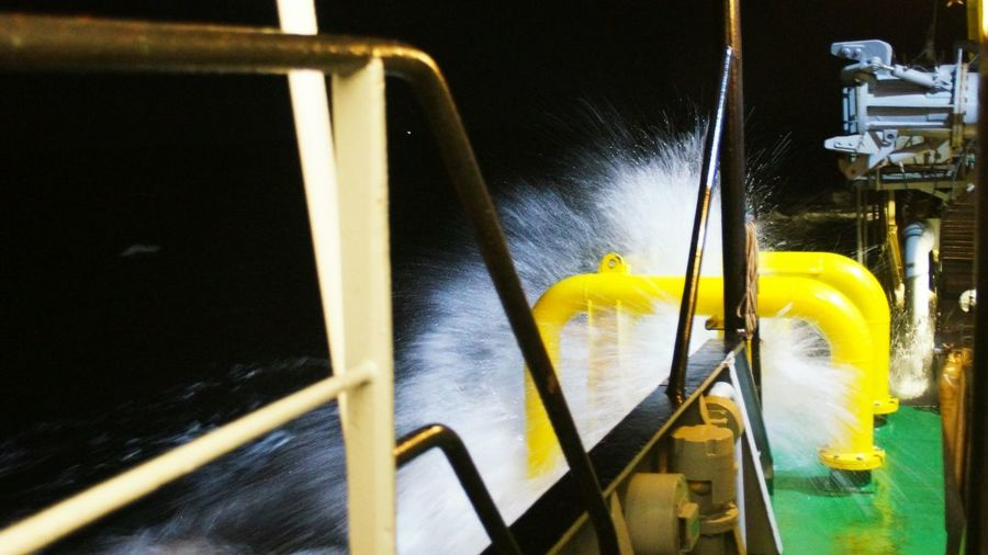 Baltic Sea 🚢 Baltic Sea Night Work Vessel Offshore Storm Raw Nature Yellow No People Water Close-up