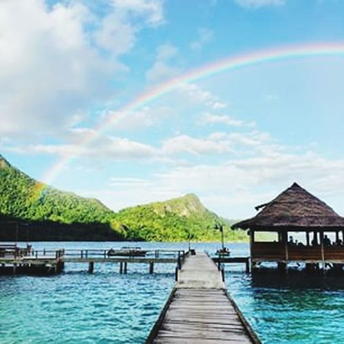 Ora Beach Beach Honeymoon Dream Place Maluku  Rainbow Sky Beauty Island Life Is A Beach