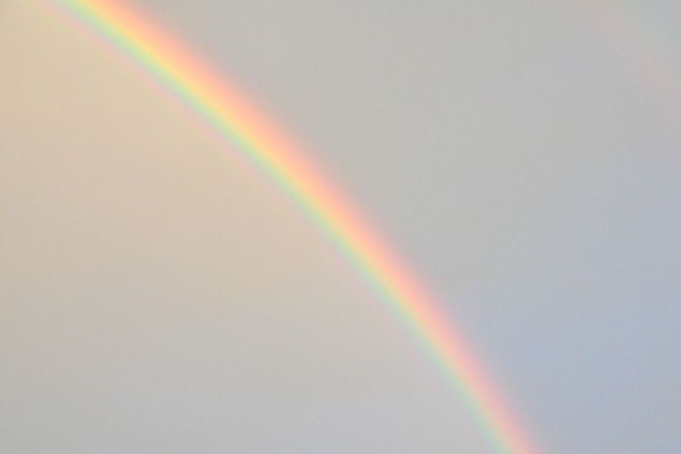 Multi Colored Rainbow Spectrum No People Refraction Beauty In Nature Nature Natural Phenomenon Sky Scenics - Nature Day Eyesight Tranquility Hope - Concept Outdoors Curve Double Rainbow Simplicity Copy Space