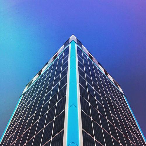 ::Blueness:: 33 Architecture Minimalism Geometric Shape Building Urban Geometry Low Angle View Close-up