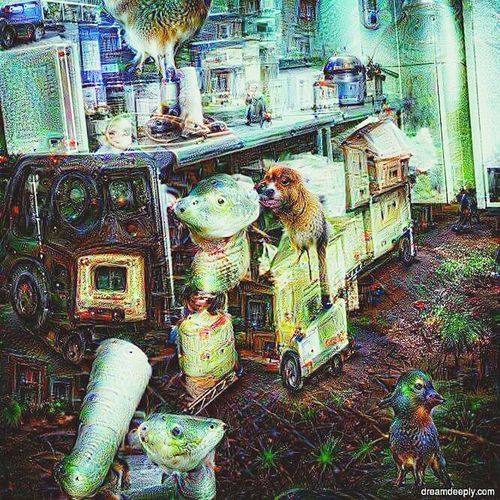 Animal Themes Birdcage Deep Dream Generator Tranquility Indoors  Close-up Night House Lifestyles