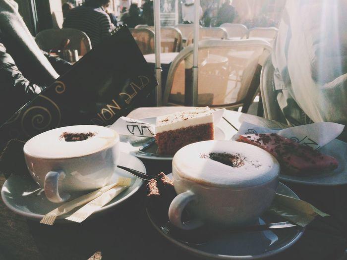 Coffee and cake in Copenhagen. Swedish Fika Coffee Cake Copenhagen