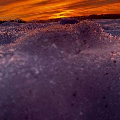 Sunset Snow Sky
