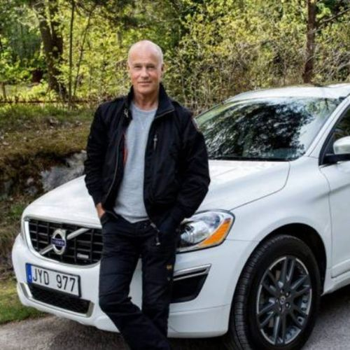 Swedish Actor Stefan Sauk and his Volvo XC60 D5 Design Polestar VolvoCarCorporation VolvoCarsShowroom Stockholm Sweden