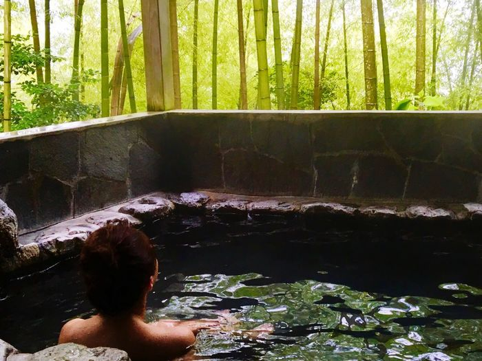 onsen Hakone Onsen Banboo One Person Water Real People Lifestyles Nature Plant Leisure Activity Women Forest Day Tree