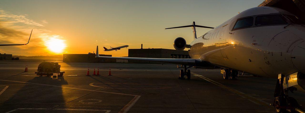 Regional jet at airport