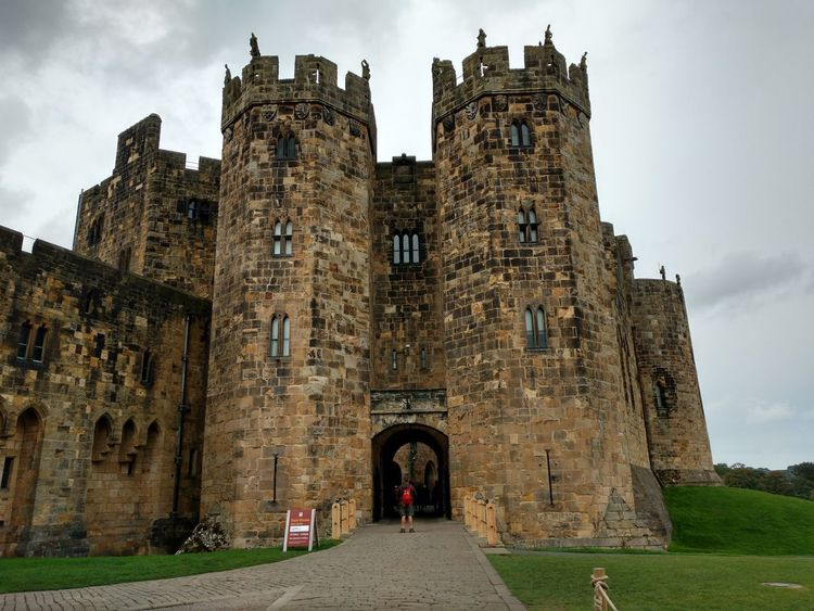 Architecture Built Structure Building Exterior Religion Window Arch Castle Architecture Old Town History The Past Façade Old Ruin Outdoors Medieval Tower Day People And Places Tourism Sky Entrance Famous Place Ancient Alnwick Castle National Landmark