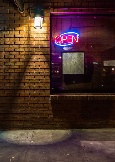 Night Dining Menu Night Photography Restaurants Brickwallgame Lanterns In The Dark Lighting Effects Neon Sign Open Outside Window