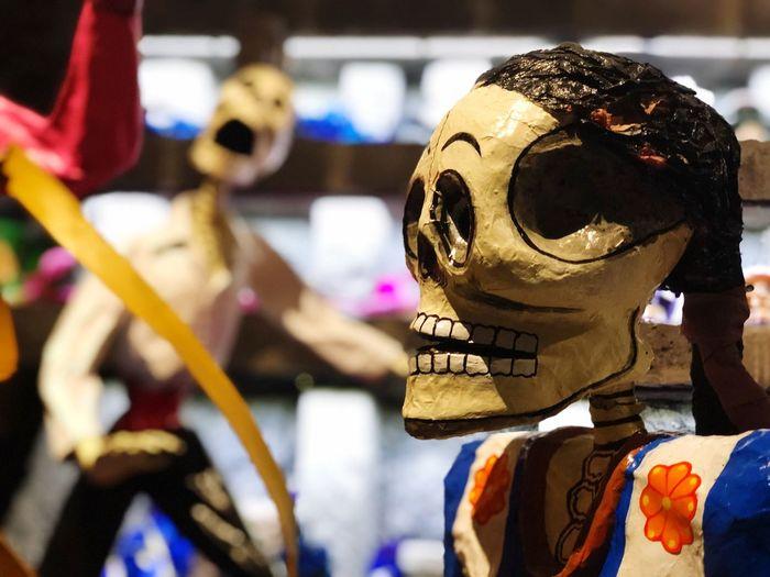Calavera  Dıa De Muertos Dead Representation Focus On Foreground Art And Craft Human Representation No People Creativity Close-up