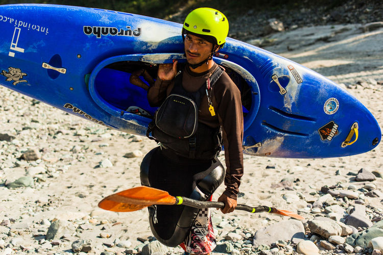 Portrait of a Kayak instructor in Rishikesh, India. Kayak Instructor Portrait Of Kayak Instructor Kayaking In India Kayaking In Rishikesh Water Sports Instructor Adventure Sports Adventure Sports Instructor Adventure Sports In India