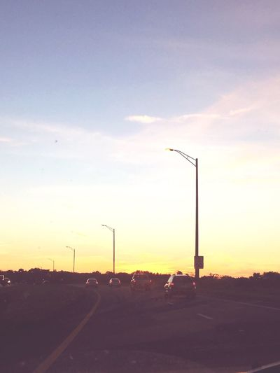 Love seeing the sunset on my way home...