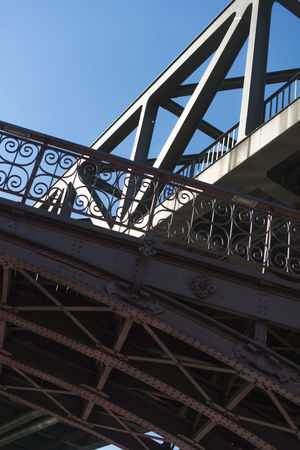 Architectural Feature Architecture Blue Bridge - Man Made Structure Built Structure Capital Cities  Connection Culture Day Engineering Low Angle View Metallic No People Outdoors Sky Tourism Travel Destinations Urban EyeEm LOST IN London