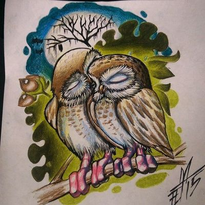 Up for grab...u want it...let me know Fullcustomtattoo Tattooartist  Tattoo Torstenmatthes Owl Drawing Freehand Check This Out Love Mrttattoo