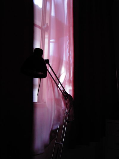 blowing Flutter Curtain Indoors  Lamp Window Shadow EyeEmNewHere