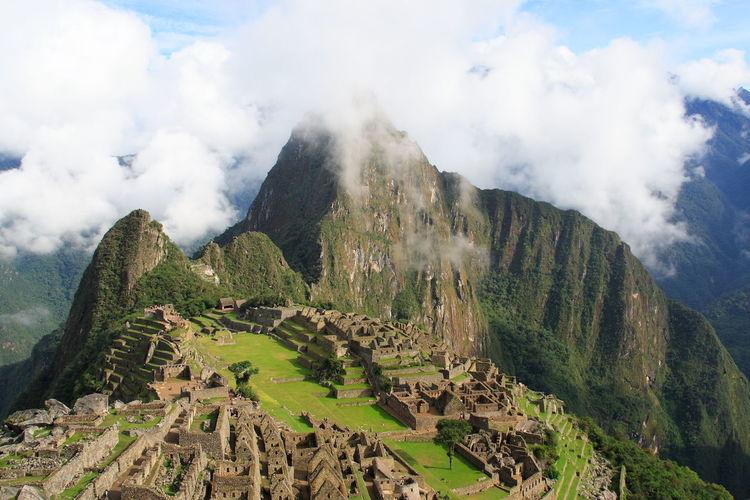 Beauty In Nature Cloud - Sky Day Growth Landscape Macchu Picchu Macchupicchu Mountain Nature No People Outdoors Peru Scenics Sky Southamerica
