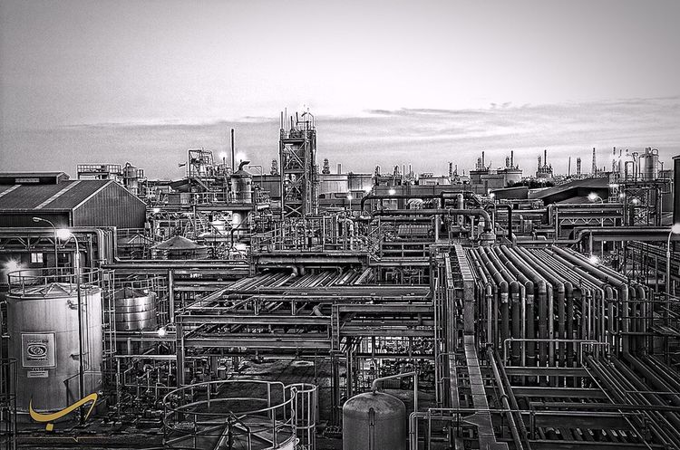 Oil Industry Petrochemical Plant Factory Outdoors HDR Q8 Photography Kuwait Industry Alkout  Kout Architecture Photoshop