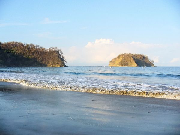 Morning Light Vacation Getaway  Beach Pacific Coast Costa Rica Island EyeEm Selects Sea Water Beauty In Nature Scenics Nature Beach Tranquil Scene Tranquility Horizon Over Water Day No People Outdoors Wave Sand