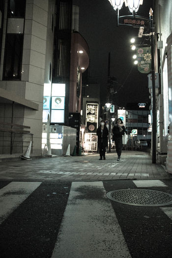 City City Life Night People Street Light