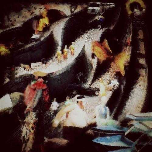 Freestyle Colors Graphic Design Digital Art Entre Ombre Et Lumiere Human Representation Fish Etc On The Road On Achève Bien Les Chevaux Crash Clouds And Sky Composition Race See You