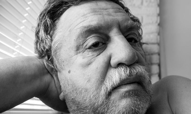 Portrait of a middle-aged Caucasian man with a mustache and unshaven beard Man Adult Beard Caucasian Close-up Contemplation Facial Hair Headshot Human Body Part Human Face Indoors  Leisure Activity Lifestyles Looking Away Males  Mature Adult Mature Men Men Middle-aged Mustache One Person Portrait Real People Senior Adult Unshaven