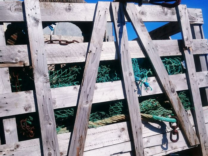 Fishing Nets Weathered Built Structure Fish Quay North Shields Wooden Texture Crate Storage