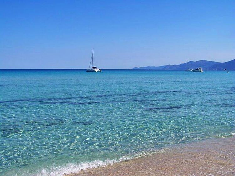 Relaxing Sea Beach Sky Blue