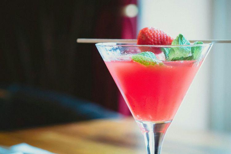 Close-up of alcoholic beverage