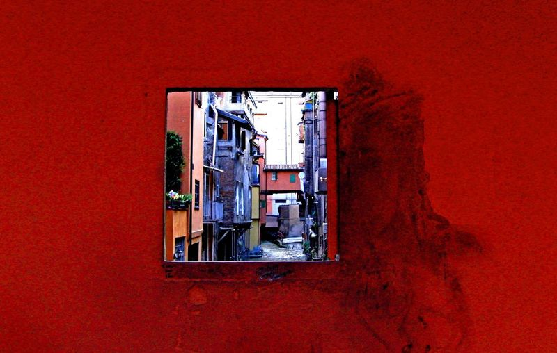Bologna, Italy Hidden Beauty Hidden Gem Magic Window Red Romantic Place Waterway Window