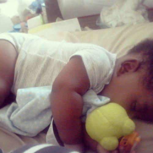 He cant sleep without it... <3 YoungCarter JimmytheFrog