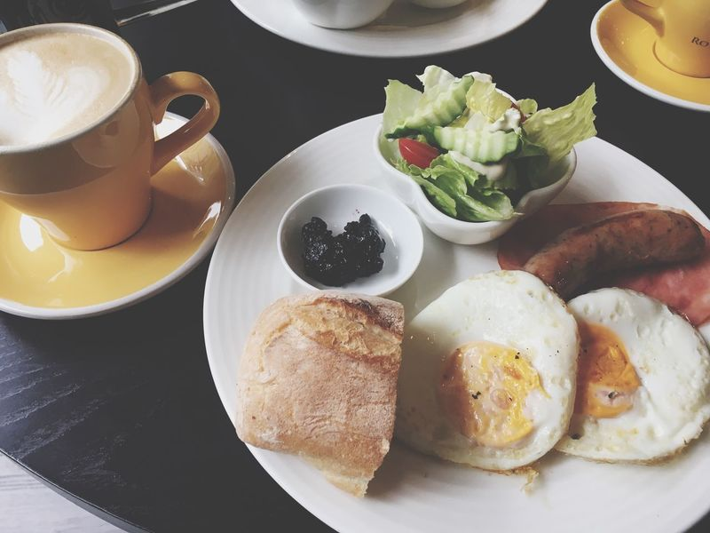 Breakfast Morning Latte Food And Drink Ready-to-eat Day Food Freshness Date