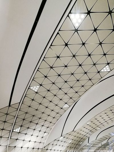 Sky Low Angle View Pattern Futuristic No People Architecture Outdoors Modern City Concentric Day