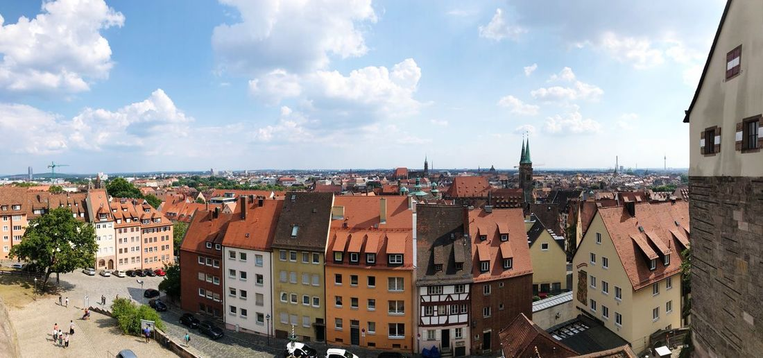 Panorama | Blick von der Kaiserburg in Nürnberg Germany Bavaria Bayern Nuremberg Nürnberg Panorama EyeEm Selects Architecture Building Exterior Built Structure Sky Cloud - Sky Building City Outdoors Roof TOWNSCAPE