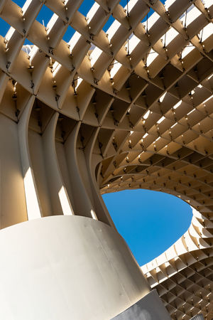 Having recently been travelling a little in Southern Spain, I made sure I paid a visit to the Metropol Parasol in Sevilla. An immense wooden structure located at La Encarnación square, in the old quarter of Sevilla, t was designed by the German architect Jürgen Mayer and rejuvenated a under used part of the city, replacing a tired old car park. The epic sweeps and curves offer a multitude of photographic opportunities, especially as the light changes throughout the day. The pockets of light and shadow, and of course the ever present blue skies, make it a location you can return to again and again. Achitecture Architecture Architecture_collection Curves Metropol Parasol Minimalist Minimalist Architecture SPAIN Sevilla Sevilla Spain Seville The Architect - 2018 EyeEm Awards Travel Photography Architectural Feature Architecture Blue Sky Day Minimalism Minimalist Photography  Minimalistic Outdoors Street Photography Sunlight Sweeping Travel Destinations
