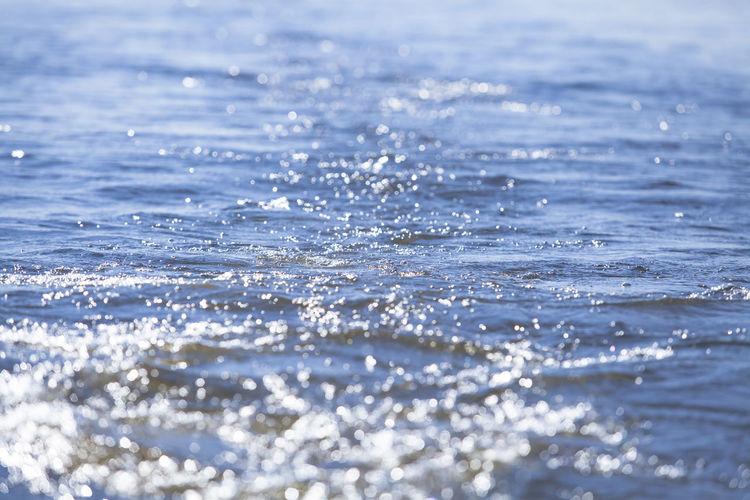 Water surface splashing of rippled water