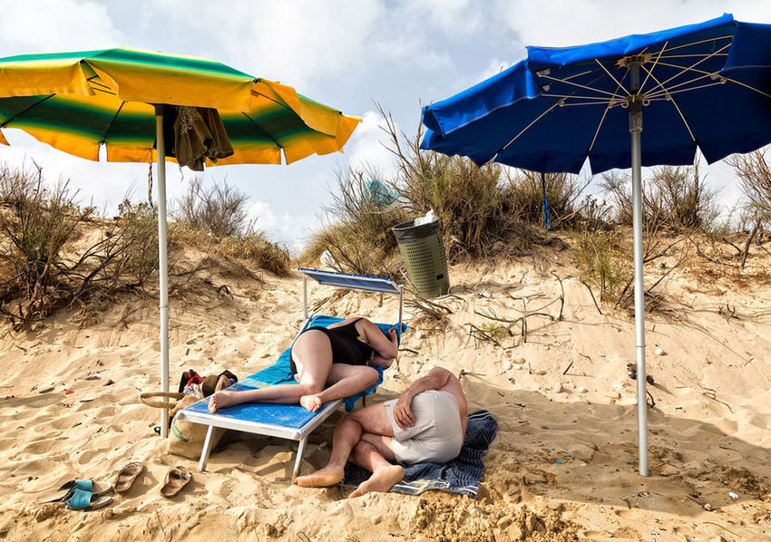 sleepers Beach Lifestyles Lying Down Outdoors Sand Sleep Summer Sunlight The Street Photographer - 2017 EyeEm Awards Two People Vacations