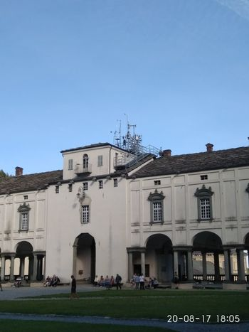 Stazione sismo metereologica di Oropa Architecture Arch Built Structure Building Exterior Large Group Of People Travel Destinations Sky Clear Sky Day People Grass Outdoors Green Color Low Angle View Religion Architecture Summer 2017 🏊🌞 Biellese.