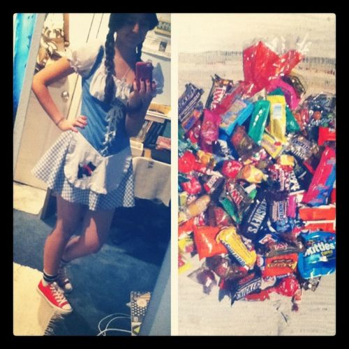 October31 Halloweencostumeandcandy Halloween Candy costume dorothy <3 ^-^