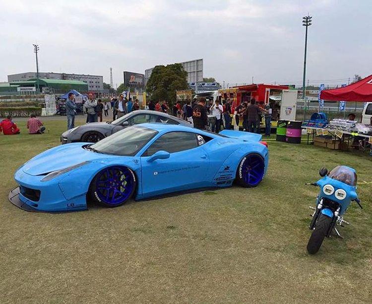 Blueisthewarmestcolor Libertywalk Ferrari458  Widebody Formuladrift