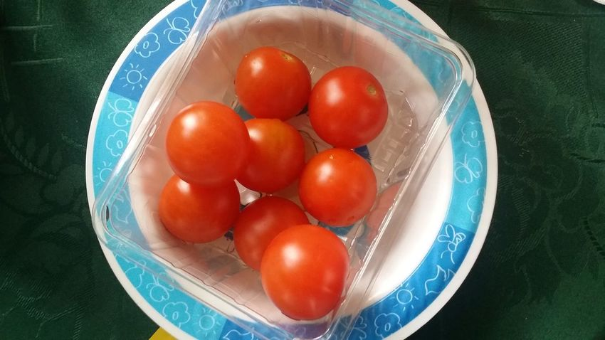 Tomato Plastic Box Plate Home Break Side Dish Bowl Freshness Food Food And Drink Healthy Eating High Angle View Close-up Directly Above No People Fruit Table Indoors  Ready-to-eat Day Mini