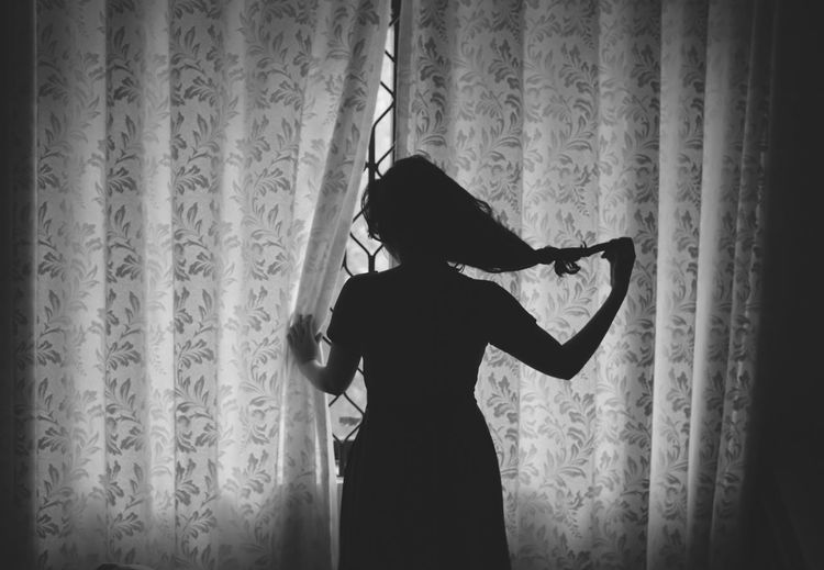 Let Your Hair Down Silhouette Light And Shadow Light Ministry Of Light Blackandwhite Woman Who Inspire You