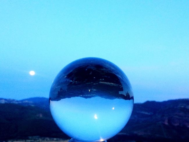 Moon Blue Mountain Crystal Ball Nature Astronomy Planet Earth Space Galaxy