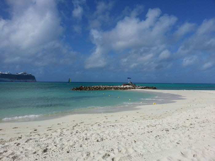 Beaches Blue Sea And Blue Sky Blue Sky Carribbean Sea Cruise Tranquility Tranquility Scene Tropical Climate Tropical Paradise Vacation Time White Sand Beach