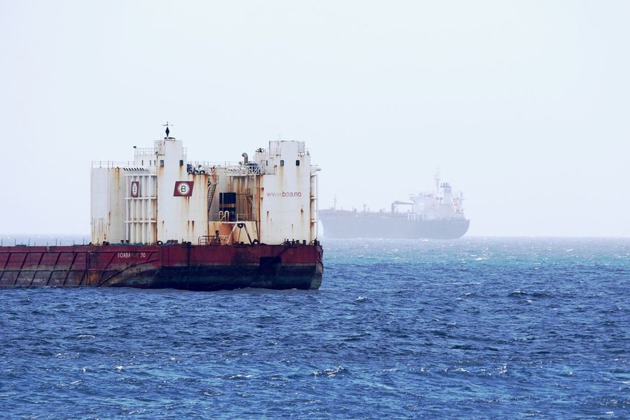 Day Foggy Seaside Freight Transportation Misty Mode Of Transport Nautical Vessel No People Outdoors Sea Transportation Water Waterfront
