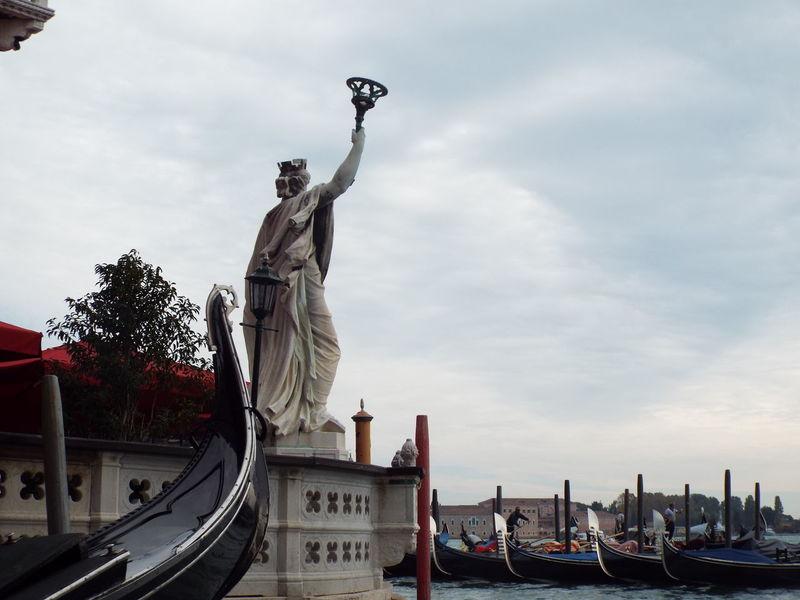Art City Cloud - Sky Day Gran Canal Low Angle View Outdoors Sculpture Statue Tourism Travel Destinations Venezia Venice