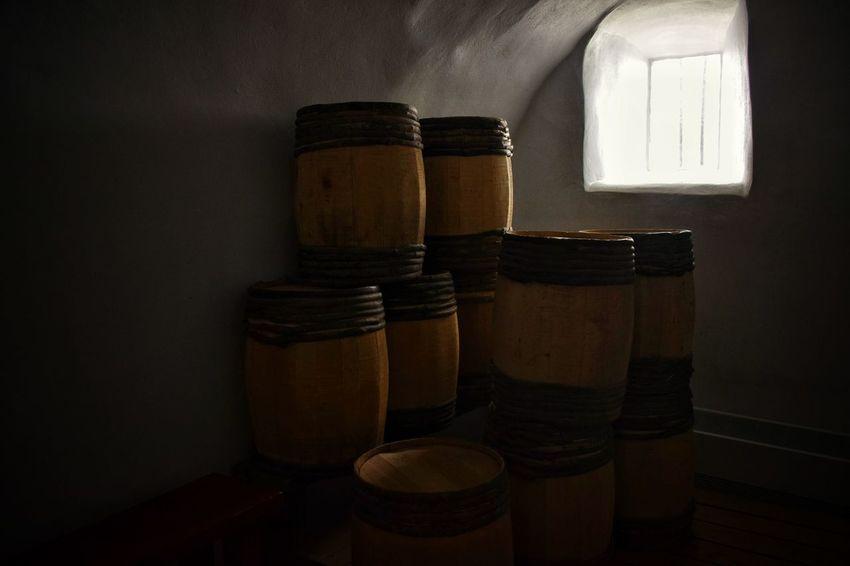 Indoors  Close-up Dark Photography Vintage Barrels Wine