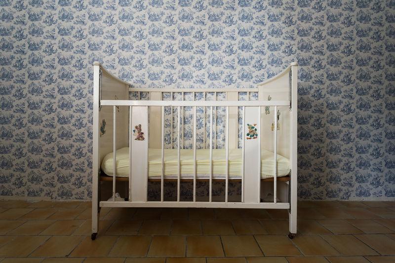 Crib in children's room
