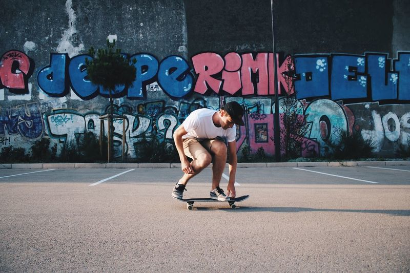 EyeEm Selects Graffiti Exercising Lifestyles Sport Healthy Lifestyle Outdoors Sportsman Skateboard Park Young Adult Skateboarding