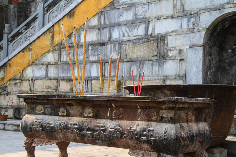 Incenses at buddhist temple