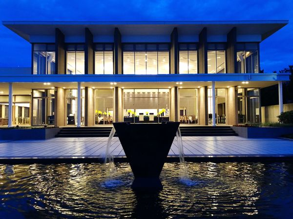 Architecture Built Structure Illuminated Water Night Building Exterior Reflection
