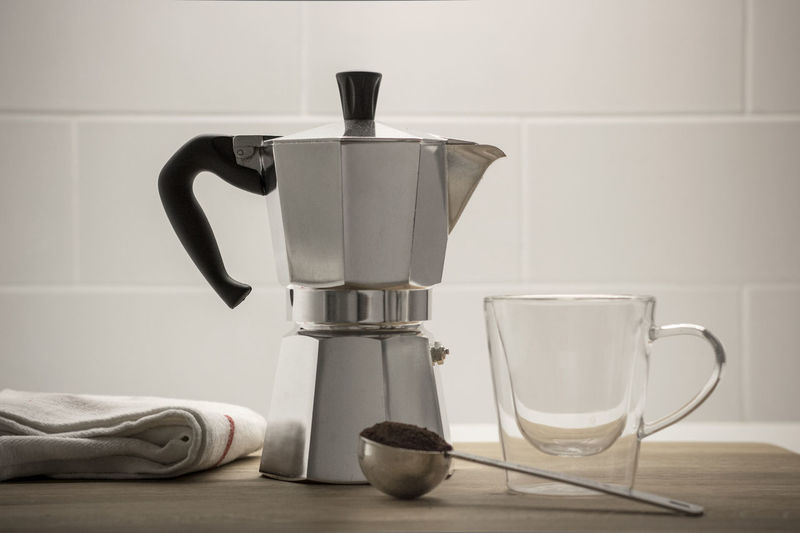 Appliance Coffee - Drink Coffee Cup Coffee Maker Coffee Pot Cup Day Domestic Kitchen Domestic Room Drink Espresso Espresso Maker Food And Drink Indoors  Kitchen No People Mokapot moka pot